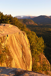Cathedral Ledge in New Hampshire's White Mountains. Echo Lake State Park North Conway.