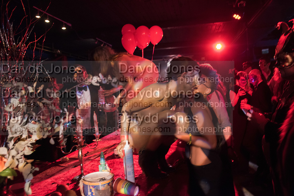 GOLDEN SERVERS, LOST HEARTS , A VALENTINE'S MASQUERADE BALL 2016 at the Coronet Theatre,  Elephant and Castle, London. 12th February 2016