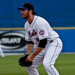 March 6, 2011; Port St. Lucie, FL, USA; New York Mets first baseman Ike Davis (29) during a spring training exhibition game against the Boston Red Sox at Digital Domain Park. The Mets defeated the Red Sox 6-5.  Mandatory Credit: Derick E. Hingle