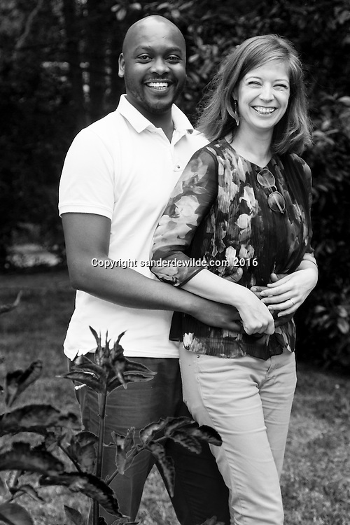 Lasne, Belgium 11 June 2016. Family of Maryse Gallagher in their garden in Lasne
