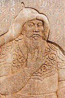 Mongolie, Province du Khentii, Delgerkhaan, Khodoo aral, l'emplacement de la première capitale de l'Empire Mongol de Gengis Khan, statue de Gengis Khan // Mongolia, Khentii province, Delgerkhaan, Khodoo aral, the place of the first capital of the Mongolian Empire of Gengis Khan, statue of Gengis Khan