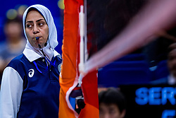 01-10-2018 NED: World Championship Volleyball Women day 3, Yokohama<br /> Netherlands vs. Cameroon 3-0 / Referee  Taghreed Khattab (EGY)