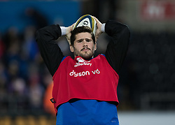 Bath Rugby's Nathan Charles during the pre match warm up<br /> <br /> Photographer Simon King/Replay Images<br /> <br /> Anglo-Welsh Cup Round 4 - Ospreys v Bath Rugby - Friday 2nd February 2018 - Liberty Stadium - Swansea<br /> <br /> World Copyright © Replay Images . All rights reserved. info@replayimages.co.uk - http://replayimages.co.uk