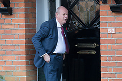 "© Licensed to London News Pictures. 02/11/2017. LONDON, UK.  DAMIAN GREEN, First Secretary of State and Minister for the Cabinet Office leaving his home in west London this morning. Prime Minister Theresa May's deputy, Damian Green has said allegations of inappropriate advances towards a female activist before he joined the cabinet are ""completely false"". Tory activist Kate Maltby has claimed that that Damian Green ""fleetingly"" touched her knee in a pub in 2015, and in 2016 sent her a ""suggestive"" text message.  Photo credit: Vickie Flores/LNP"