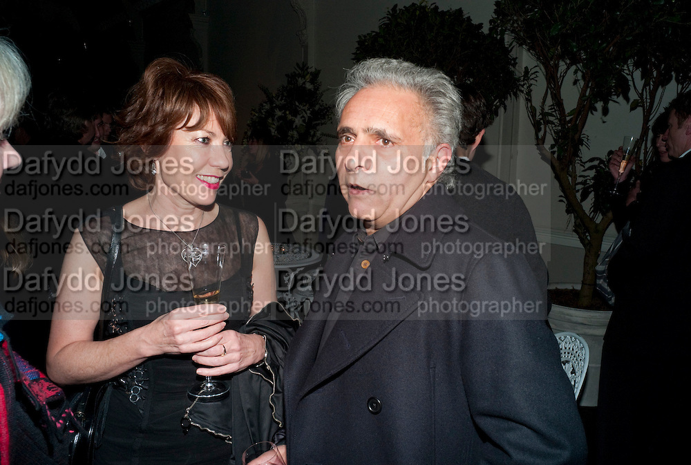KATHY LETTE; HANIF KUREISHI, Party for Perfect Lives by Polly Sampson. The 20th Century Theatre. Westbourne Gro. London W11. 2 November 2010. -DO NOT ARCHIVE-© Copyright Photograph by Dafydd Jones. 248 Clapham Rd. London SW9 0PZ. Tel 0207 820 0771. www.dafjones.com.