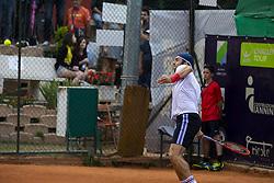 June 23, 2018 - L'Aquila, Italy - Paolo Lorenzi during match between Thiago Monteiro (BRA) and Paolo Lorenzi (ITA) during Men Semi-Final match at the Internazionali di Tennis Citt dell'Aquila (ATP Challenger L'Aquila) in L'Aquila, Italy, on June 23, 2018. (Credit Image: © Manuel Romano/NurPhoto via ZUMA Press)
