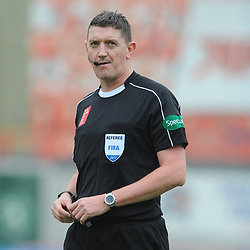 Referee Craig Thomson in the match between Hamilton Accies v Motherwell, Ladbrokes Premiership, The Super Seal Stadium, Saturday 14 October 2017  (c) Angie Isac | SportPix.org.uk