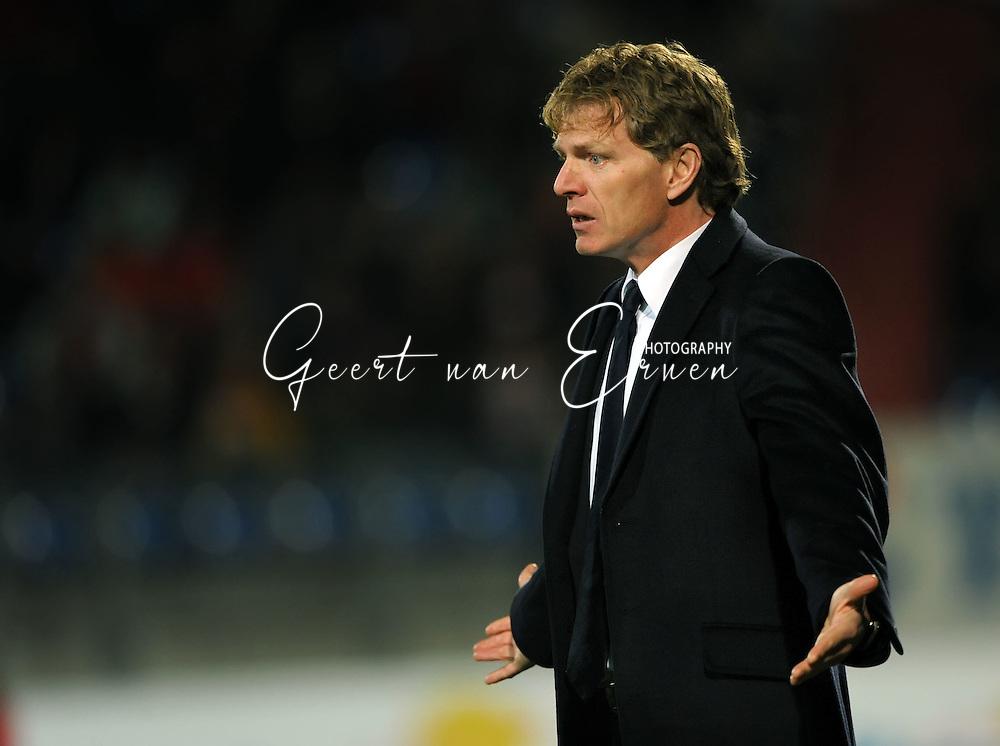 14-03-2009 Voetbal:Willem II:FC Twente:Tilburg<br /> Trainer Alfons GROENENDIJK<br /> Foto: Geert van Erven