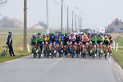 The peloton approach at Gent Wevelgem Elite Women 2018 - a 143 km road race from Ieper to Wevelgem on March 25, 2018. Photo by Sean Robinson/Velofocus.com