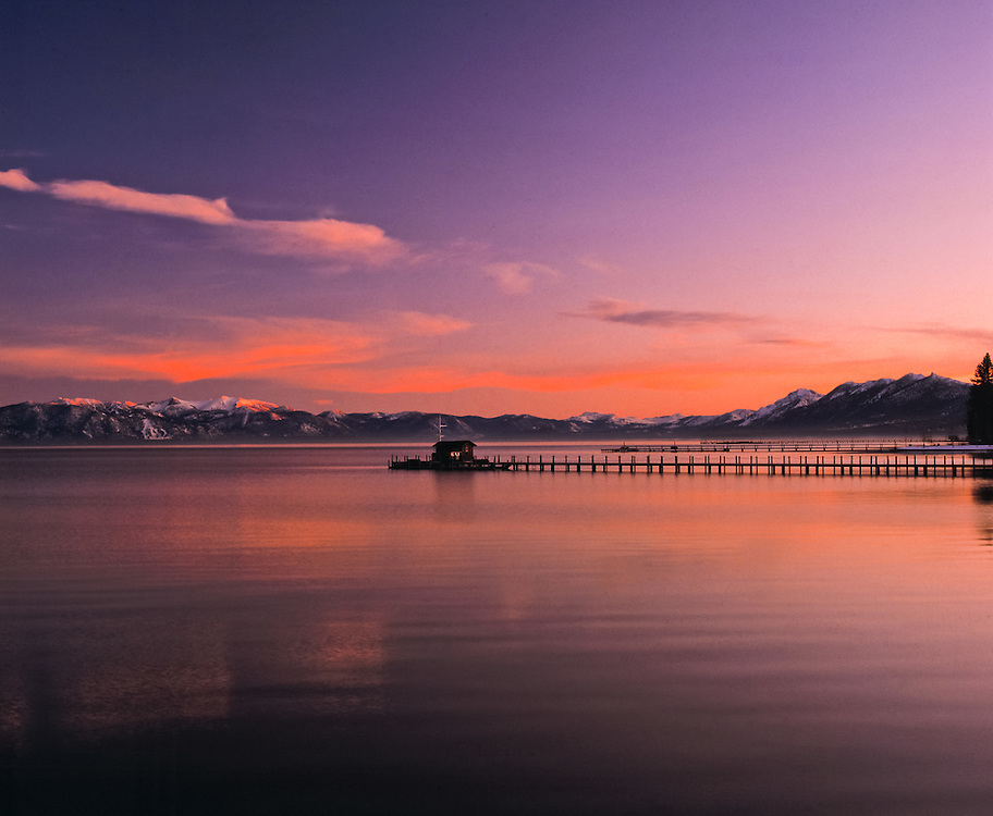 Lake Tahoe Scenic Sunset Pier