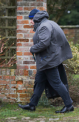 © Licensed to London News Pictures. 21/02/2016. Thame, UK. Boris Johnson is seen as he leaves his Oxfordshire home. The London Mayor is yet to announce if he will support an EU exit vote or back the Prime Minister. Photo credit: Peter Macdiarmid/LNP