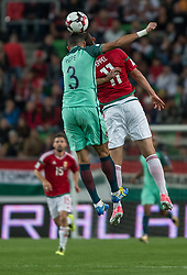 September 3, 2017 - Budapest, Hungary - Pepe (L) of Portugal in action with Márton Eppel (R) of Hungary during the World Cup qualification match between Hungary and Portugal at Groupama Arena on Nov 03, 2017 in Budapest, Hungary. (Credit Image: © Robert Szaniszlo/NurPhoto via ZUMA Press)
