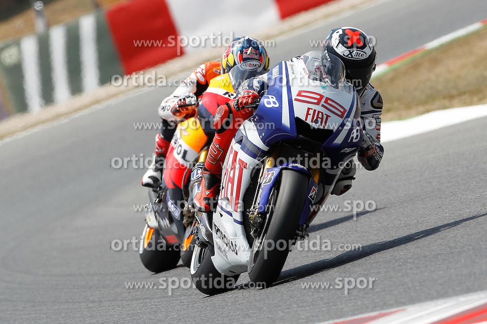 04.07.2010, Montmelo, Barcelona, ESP, MotoGP, Grand Prix von Katalonien im Bild Jorge Lorenzo - Fiat Yamaha team., EXPA Pictures © 2010, PhotoCredit: EXPA/ InsideFoto/ Semedia *** ATTENTION *** FOR AUSTRIA AND SLOVENIA USE ONLY! / SPORTIDA PHOTO AGENCY