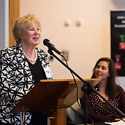 05/03/2019<br /> Pictured is Dolores O'Meara, Chairperson of Fairtrade Limerick.<br /> <br /> Fairtrade worker Sara Montoya, from a Fairtrade Coffee Co-op in Colombia was the special guest in Limerick City and County Council chamber today at an event to coincide with Fairtrade Fortnight.<br />  <br /> Sara joined Fairtrade supporters from across Limerick and Ireland for the annual initiative, which features a programme of talks and community events aimed at promoting awareness of Fairtrade and Fairtrade-certified products.<br />  <br /> Speaking at the event in Dooradoyle, Sara outlined the success and benefits of the Fairtrade movement in Colombia and how important it is for people in the developed world think of Fairtrade products when shopping.<br />  <br /> This year's campaign 'Create Fairtrade' invites us all to use our imagination and create fairtrade in our lives.<br />  <br /> Young people from across Limerick city and county were also a focus of the event as they displayed their posters, which they created to help change the way people think about trade and the products on our shelves.<br /> Photo by Diarmuid Greene