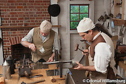 The Tinsmith Shop for CWJ. Steve Delisle (in dark brown vest), and the apprentice was Joel Anderson.