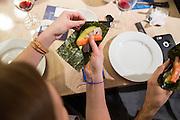 Content Magazine host its Content Lab: Sushi & Style at Kit & Ace Santana Row in San Jose, California, on January 21, 2016. (Stan Olszewski/SOSKIphoto)