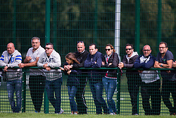 WREXHAM, WALES - Thursday, August 15, 2019: Supporters look on during the UEFA Under-15's Development Tournament match between Cyprus and Malta at Colliers Park. (Pic by Paul Greenwood/Propaganda)