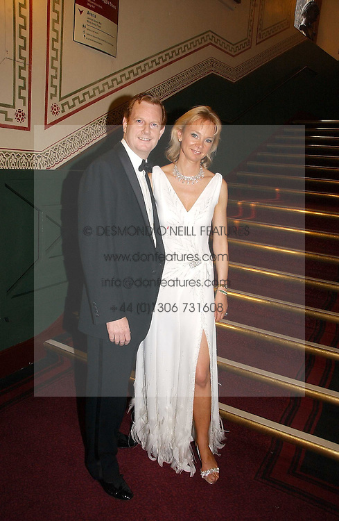 The EARL &amp; COUNTESS OF DERBY at the NSPCC's Dream Auction held at The Royal Albert Hall, London on 9th May 2006.<br />