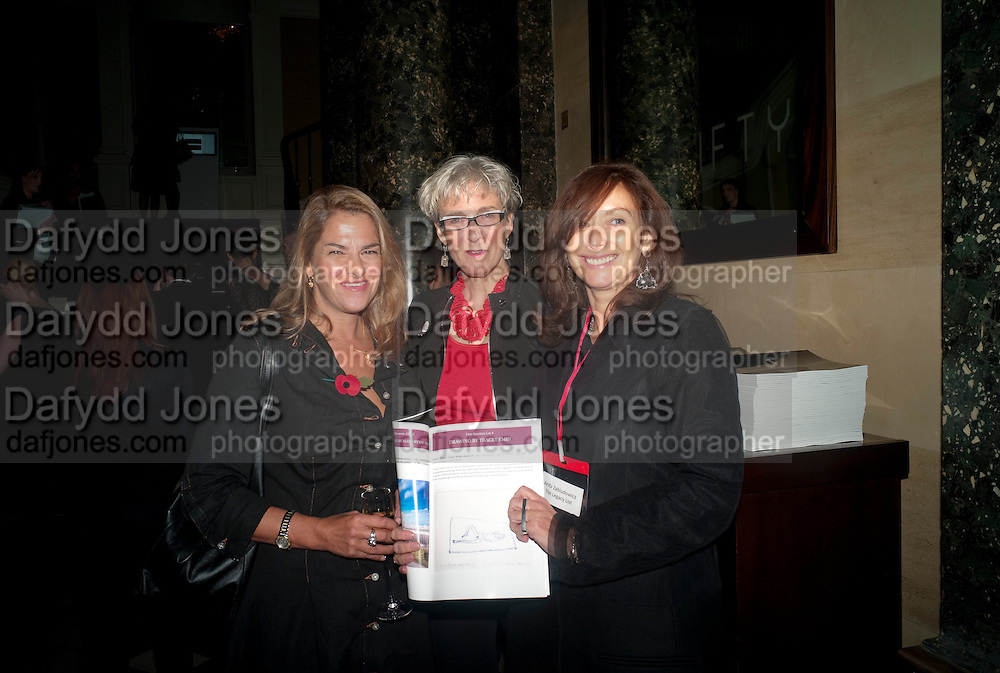 TRACEY EMIN; SARAH WEIR; ANITA ZABLUDOWICZ, Drinks soiree and silent auction of Ô100 ThingsÕ,  hosted by the Mayor of London Boris Johnson, in aid of the Legacy List. 50 St. James. London. 2 November 2011. <br /> <br />  , -DO NOT ARCHIVE-© Copyright Photograph by Dafydd Jones. 248 Clapham Rd. London SW9 0PZ. Tel 0207 820 0771. www.dafjones.com.<br /> TRACEY EMIN; SARAH WEIR; ANITA ZABLUDOWICZ, Drinks soiree and silent auction of '100 Things',  hosted by the Mayor of London Boris Johnson, in aid of the Legacy List. 50 St. James. London. 2 November 2011. <br /> <br />  , -DO NOT ARCHIVE-© Copyright Photograph by Dafydd Jones. 248 Clapham Rd. London SW9 0PZ. Tel 0207 820 0771. www.dafjones.com.