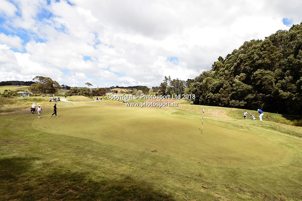 Wainui Golf Course general view, 2nd hole green.<br /> NZ Rebel Sports Masters, Wainui Golf Club, Wainui, Auckland, New Zealand. 14 January 2018. &copy; Copyright Image: Marc Shannon / www.photosport.nz.