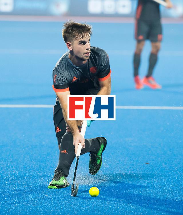 BHUBANESWAR - Tristan Algera (Ned) tijdens de Hockey World League Final wedstrijd Belgie-Nederland (3-0).   COPYRIGHT KOEN SUYK