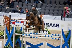 BEERBAUM Ludger (GER), Cool Feeling <br /> Göteborg - Gothenburg Horse Show 2019 <br /> Longines FEI Jumping World Cup™ Final<br /> Training Session<br /> Warm Up Springen / Showjumping<br /> Longines FEI Jumping World Cup™ Final and FEI Dressage World Cup™ Final<br /> 03. April 2019<br /> © www.sportfotos-lafrentz.de/Stefan Lafrentz
