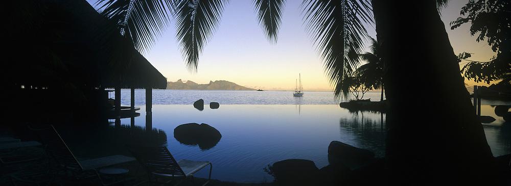 Moorea seen from Papeete Tahiti, French Polynesia