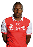 Cedric Glombard of Reims during the photocall of Reims for new season of Ligue 2 on September 29th 2016 in Reims<br /> Photo : Stade de Reims / Icon Sport