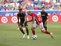 August 5, 2018 - Harrison, New Jersey, United States - Daniel Royer (77) of Red Bulls controls ball during regular MLS game against LAFC at Red Bull Arena Red Bulls won 2 - 1 (Credit Image: © Lev Radin/Pacific Press via ZUMA Wire)