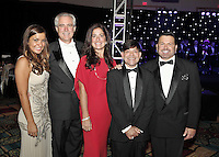 (CH) From Left, Ken Brown and his wife Elizabeth Sanjuan, poses next to friends at the Hispanic Unity of Florida's 30th Anniversary Gala and fundraiser Noche De Estrellas, on Saturday, September 22, 2012, at the Westin Diplomat Resort & Spa in Hollywood.. Staff photo/Cristobal Herrera