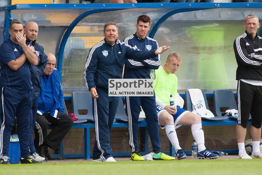 Peterhead Manager Jim McInally during the Stranraer v Peterhead Ladbrokes SPFL Scottish Division 1 at Stair Park in Stranraer 15 August 2015<br />