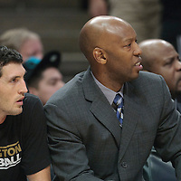 13 November 2010: Washington Wizards' Assistant coach Sam Cassell is seen next to Washington Wizards' guard #12 Kirk Hinrich during the Chicago Bulls 103-96 victory over the Washington Wizards at the United Center, in Chicago, Illinois, USA.