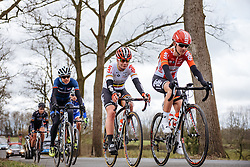 Jessie Daams heads the lead group - Dwars door Vlaanderen 2016, a 103km road race from Tielt to Waregem, on March 23rd, 2016 in Flanders, Netherlands.