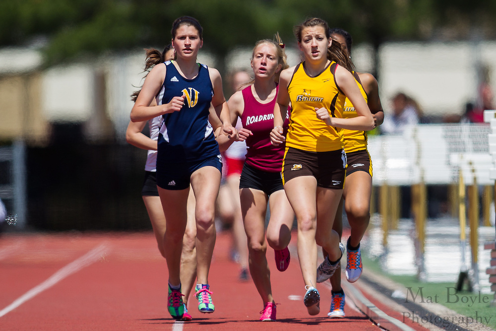 Rowan University's Christina Ricci competes in the women's 1500 meter at the NJAC Track and Field Championships at Richard Wacker Stadium on the campus of  Rowan University  in Glassboro, NJ on Sunday May 5, 2013. (photo / Mat Boyle)