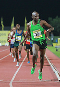 PRETORIA, SOUTH AFRICA, Friday 20 April 2012, Mbulaeni Mulaudzi fails to to qualify for the London Olympics in the 800m for men during the Yellow Pages Series 3 held at the Absa Tuks stadium..Photo by Roger Sedres/ImageSA/ASA
