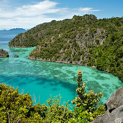 View over a beautiful lagoon in Misool area, West-Papua.