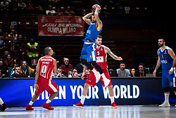 December 29, 2017 - Assago, Milan, Italy - James Feldeine (#14 Crvena Zvezda Mts Belgrade) looks for a pass during a game of Turkish Airlines EuroLeague basketball between  AX Armani Exchange Milan vs Crvena Zvzda Mts Belgrade at Mediolanum Forum in Milan, Italy, on 29 december 2017. (Credit Image: © Roberto Finizio/NurPhoto via ZUMA Press)