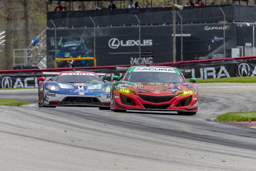 May 6, 2018 - Lexington, Ohio, United States of America - The Michael Shank Racing Acura NSX GT3 car races through the turns during the Acura Sports Car Challenge race at the Mid-Ohio Sports Car Course in Lexington, Ohio. (Credit Image: © Walter G Arce Sr Asp Inc/ASP via ZUMA Wire)