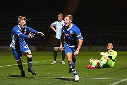 Jamie Allen of Rochdale celebrates after scoring his sides third goal - Mandatory byline: Matt McNulty/JMP - 07966386802 - 29/09/2015 - FOOTBALL - Spotland Stadium -Rochdale,England - Rochdale v Shrewsbury - SkyBet League One
