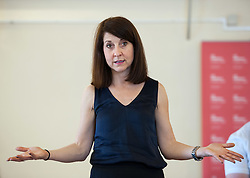 © Licensed to London News Pictures. 04/07/2015. Bristol, UK.  LIZ KENDALL MP, one of the candidates for the Labour Party leadership election, speaks and answers questions from the audience at Easton Community Centre in Bristol.  Photo credit : Simon Chapman/LNP