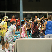 AUGUST 27, 2018--Cata&ntilde;o---PUERTO RICO--<br /> A'Circ actors perform La Familia Perez in the Andrade basketball court in the Pueblo Sector in Cata&ntilde;o.<br /> (Photo by Angel Valentin/Freelance)