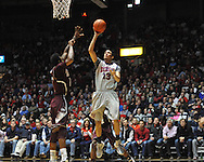 "Ole Miss' Anthony Perez (13) vs. Mississippi State at the C.M. ""Tad"" Smith Coliseum on Wednesday, February 6, 2013. (AP Photo/Oxford Eagle, Bruce Newman).."