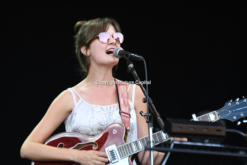 Ella Janes perform live at Kew The Music Festival 2018 on 15 July 20182018 at Kew garden, London, UK.