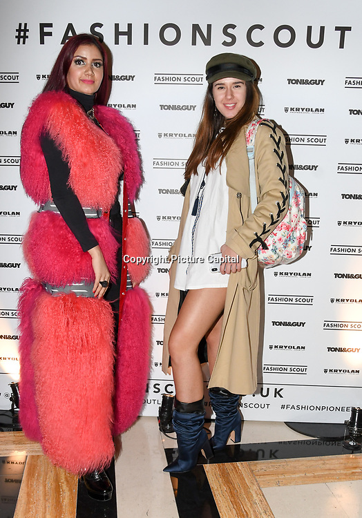 Safreen Khan - stylegrimoires and Miss Andrada - NOT Girly Girls attend the Fashion Scout - SS19 - London Fashion Week - Day 1, London, UK. 14 September 2018.