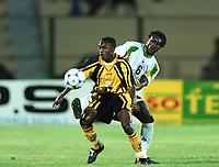 Fotball<br /> Afrikamesterskapet/African Nations Cup 2002<br /> Senegal v Zambia<br /> Foto: Digitalsport<br /> NORWAY ONLY<br /> GIFT KAMPAMBZ (ZAM) / ALIOU CISSE (SEN)