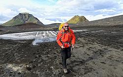 08-07-2014 ISL: Iceland Diabetes Challenge dag 4, Alftavatn<br /> Vandaag ging de challenge van Hrafntinnusker naar Alftavatn / Harold Pijfers-Bensing