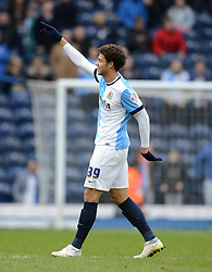 Blackburn Rovers's Rudy Gestede celebrates scoring his team's second goal - Photo mandatory by-line: Richard Martin Roberts/JMP - Mobile: 07966 386802 - 24/01/2015 - SPORT - Football - Blackburn - Ewood Park - Blackburn Rovers v Swansea City - FA Cup Fourth Round