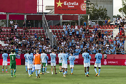 August 15, 2017 - Girona, Spain - Manchester City team greetings to his fans  during the Costa Brava Trophy match between Girona FC and Manchester City at Estadi de Montilivi on August 15, 2017 in Girona, Spain. (Credit Image: © Xavier Bonilla/NurPhoto via ZUMA Press)