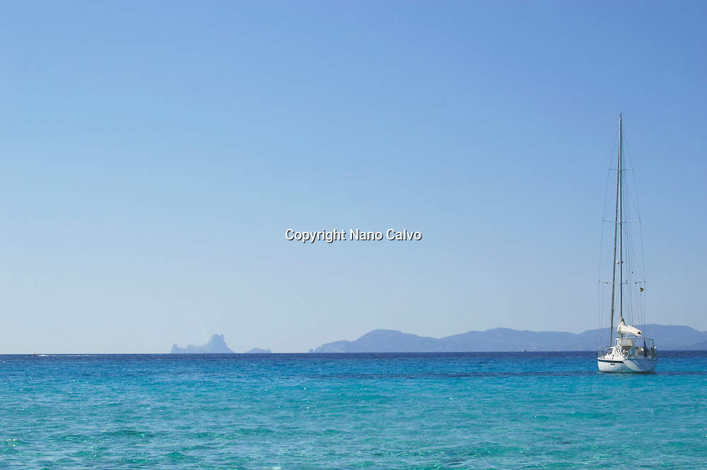 Sailboat in Formentera, Balearic Islands, Spain