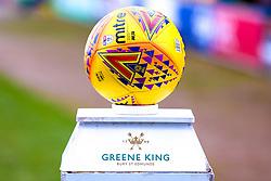 A Mansfield Town Sky Bet League Two Mitre match ball - Mandatory by-line: Ryan Crockett/JMP - 02/02/2019 - FOOTBALL - One Call Stadium - Mansfield, England - Mansfield Town v Macclesfield Town - Sky Bet League Two